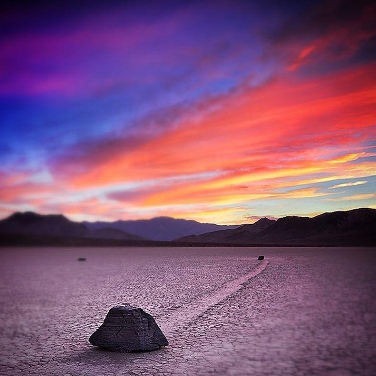 Rock  Death Valley most famous playa  The Racetrackhellip