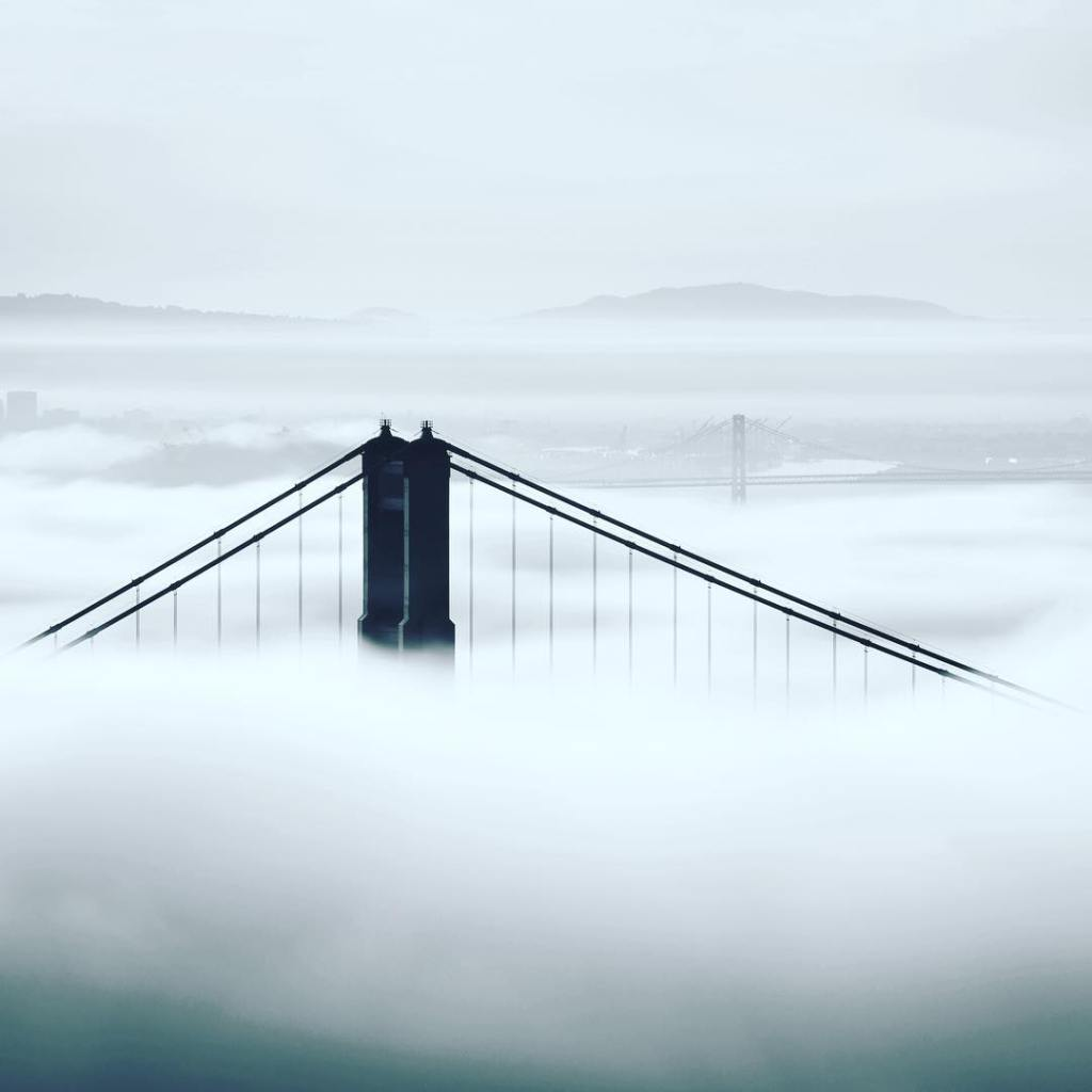 Two Towers  San Francisco in the Fog  hellip