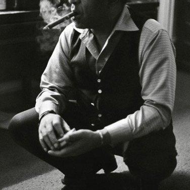 Dizzy Gillespie smokes a Cuban by Tom Marcello
