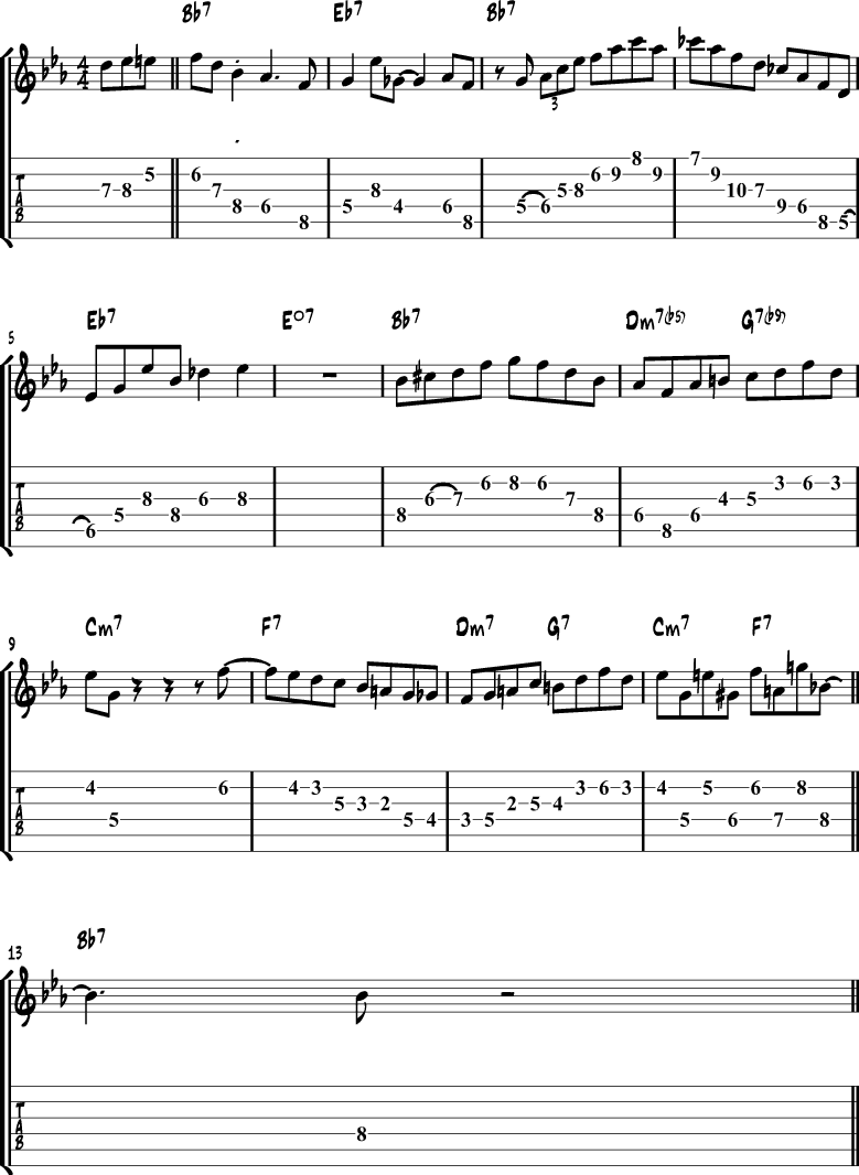 Jazz blues solo