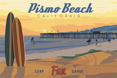 Pismo+Beach+-+artist+Steve+Thomas