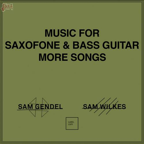 Music for Saxofone and Bass Guitar More Songs-Sam Gendel & Sam Wilkes