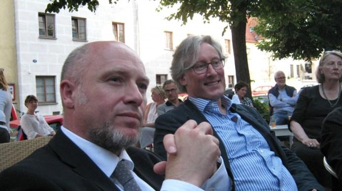 Stephan Öri (Audi Forum Ingolstadt) und Roland Spiegel (BR). Foto: Gaisa