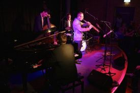 Junger Münchner Jazzpreis 2015, Andreas Feith Quartet, Jan Prax, Tilmann Oberbeck, Unterfahrt, Foto Ralf Dombrowski