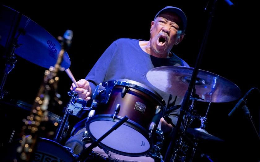 Louis Moholo-Moholo Quartet. 51. Jazzfest Berlin. Foto: Petra Basche