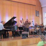Das Dusko Goykovich und Tony Lakatos mit dem Andreas Hertel Trio live am 15.05.16 bei der Jazzrally Düsseldorf
