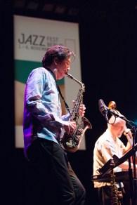 Jonathon Haffner alto saxophone, clarinet. Foto: Petra Basche