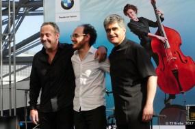 David Ventucci, Stephan Caracci und Renaud Garcia Fons. Foto: Thom,as J. Krebs Renaud Garcia-Fons