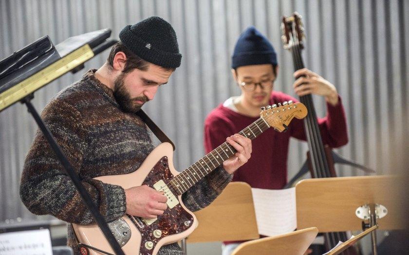 """Probenfoto """"Large Ensemble"""". Foto: Maik Schuck"""