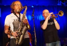 Goran Kajfes & Magnus Broo von Angles 9 auf dem Nattjazz. Foto: R. Dombrowski