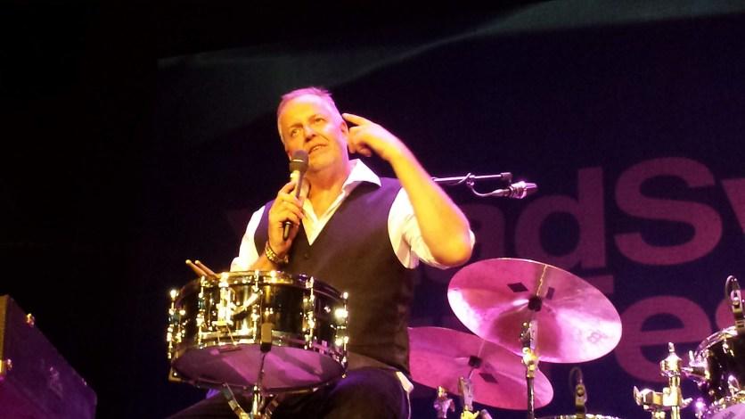 Schlagzeuger Wolfgang Haffner. Foto: Roland Spiegel