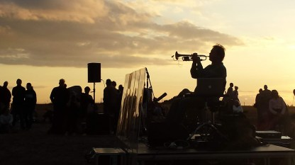Nils Petter Molvaers Konzert bei Sonnenaufgang. Foto: Roland Spiegel
