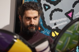 Théo Ceccaldi (vl), Pedro Melo Alves (dr), Walentowski Galerie Photo (c) Ralf Dombrowski