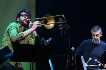 Filippo Vignato (Posaune) und Pasquale Mirra (Schlagzeug). Foto: Stefan Pieper