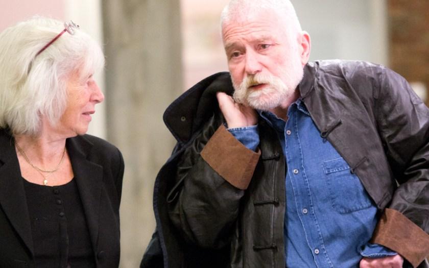 Peter Brötzmann und Nele Hertling. Auf dem Weg. Foto: Hufner