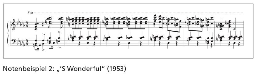 """Notenbeispiel 2: """"'S Wonderful"""" (1953)"""