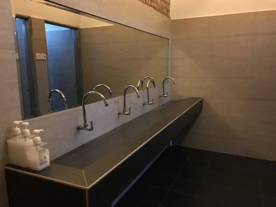 Commercial modern bathroom