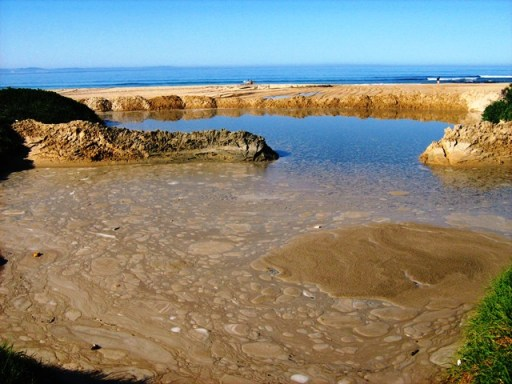 Sewage spill in Jeffreys Bay.
