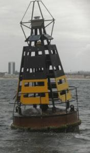 For whom the Bell tolls. This is the Buoy that the hard core swimmers will be looking for 2.5 km out to sea.