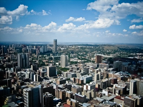 Johannesburg was hit by an earthquake this morning