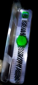 swatch watch 1 green
