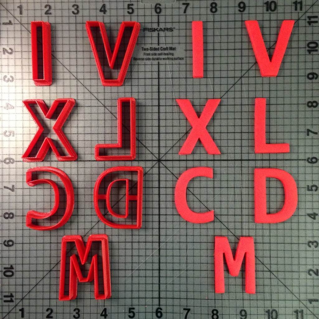 Roman Numeral Cookie Cutters