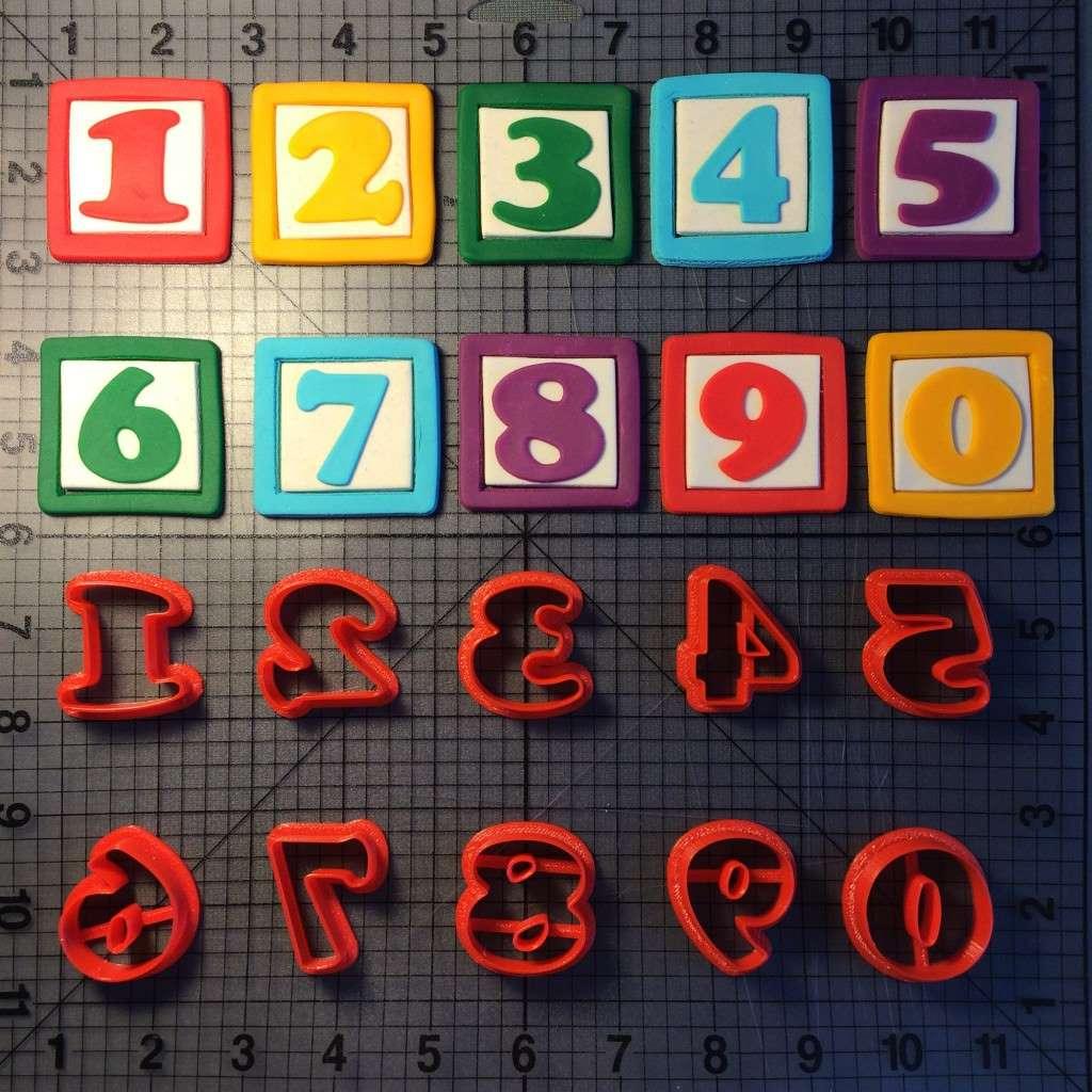 Alphabet Blocks Font Number Cookie Cutters