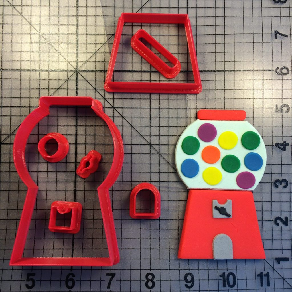 Bubble Gum Machine 100 Cookie Cutter Set