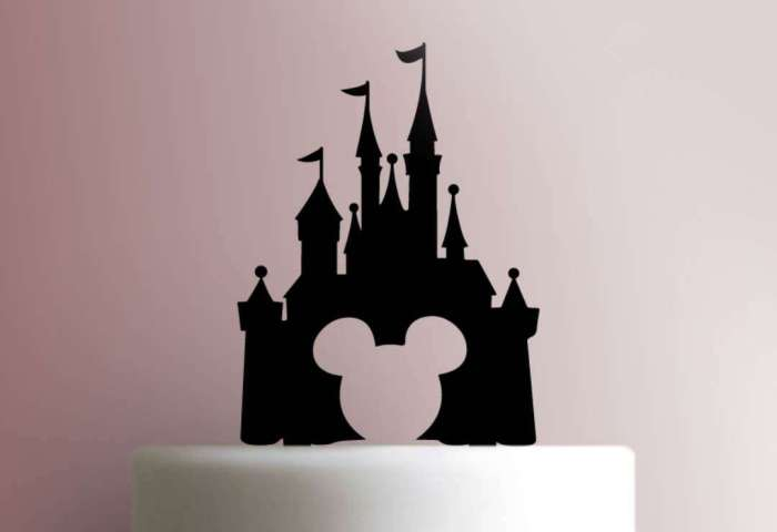 Disney Castle 225 150 Cake Topper
