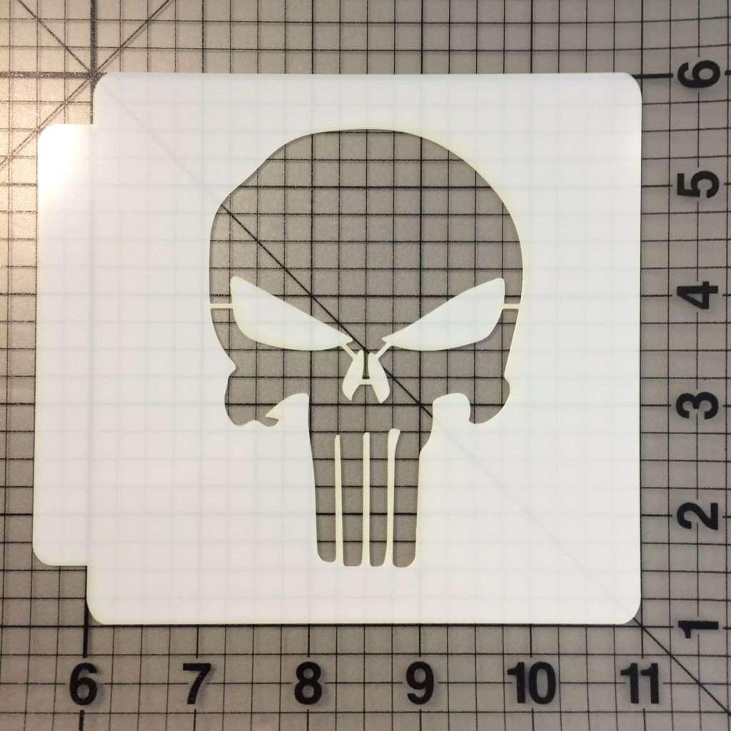 Punisher Skull 100 Stencil