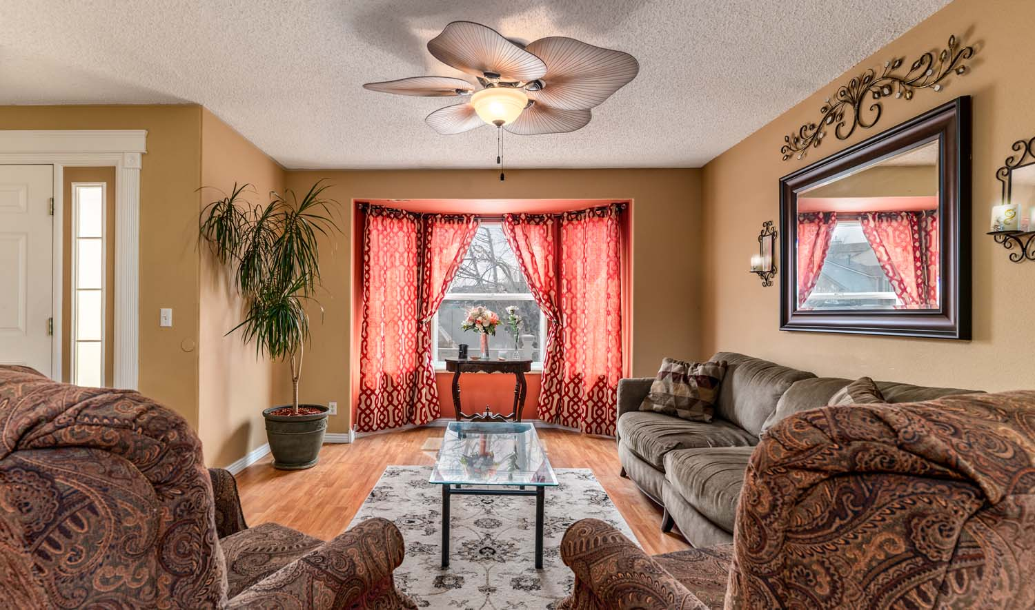 Real estate photography warm living room in Colorado Springs