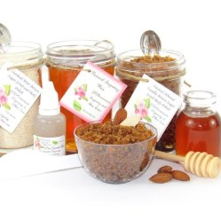 JBHomemade Natural Almond Vanilla Brown Sugar Scrub Sugaring Wax Full Bundle