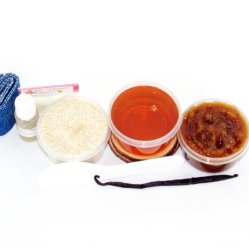 JBHomemade Natural Vanilla Brown Sugar Scrub Sugaring Wax Starter Kit