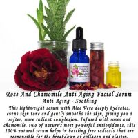 Rose And Chamomile Anti Aging Wrinkle Facial Serum | Natural Vegan Face Serum Skincare