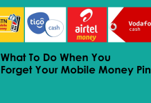 forget mobile money pin
