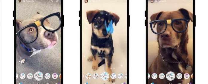 Snapchat rolls out new lenses feature for dogs. The dog specific lenses are available on Snapchat right now. Go make your dog look silly!