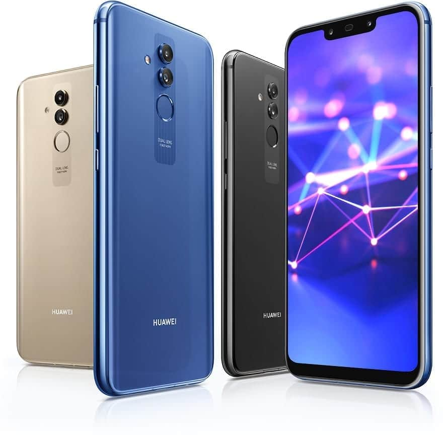 Huawei Mate 20 Lite...list and specs of prominent phones Huawei released the previous year, 2018 - alongs side with their prices