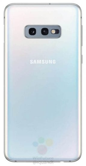 Samsung Galaxy S10E - back -- Samsung is bringing a low-cost version of the Galaxy S10 called the Galaxy S10E. the price of the phone will start from $859 (about ₵4300)