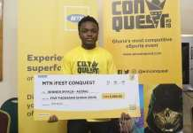 Wonder Kid won the FIFA19 contest at the MTN Conquest 2019 Accra