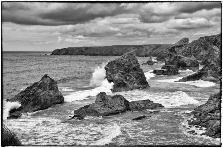 Bedruthan Steps in Cornwall