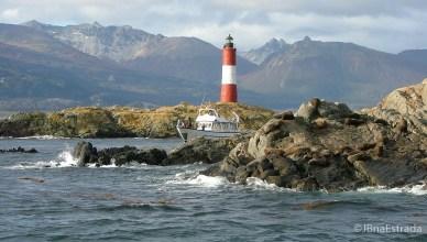 Argentina - Ushuaia - Navegacao no Canal de Beagle - Farol Les Eclaireurs