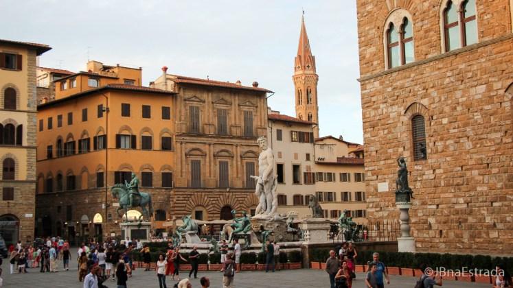 Italia - Florenca - Piazza della Signoria - Fonte de Netuno