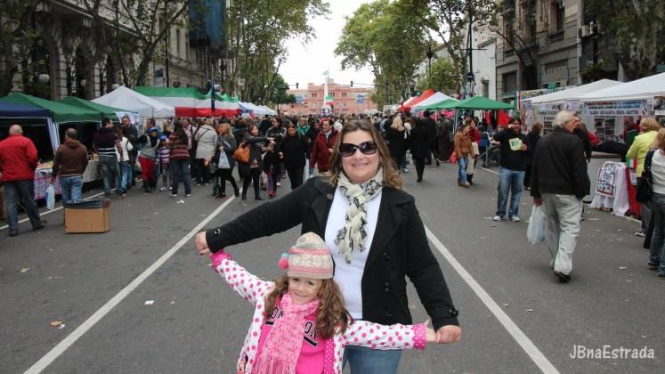 Argentina - Buenos Aires - Avenida de Mayo - Feira da Calabria
