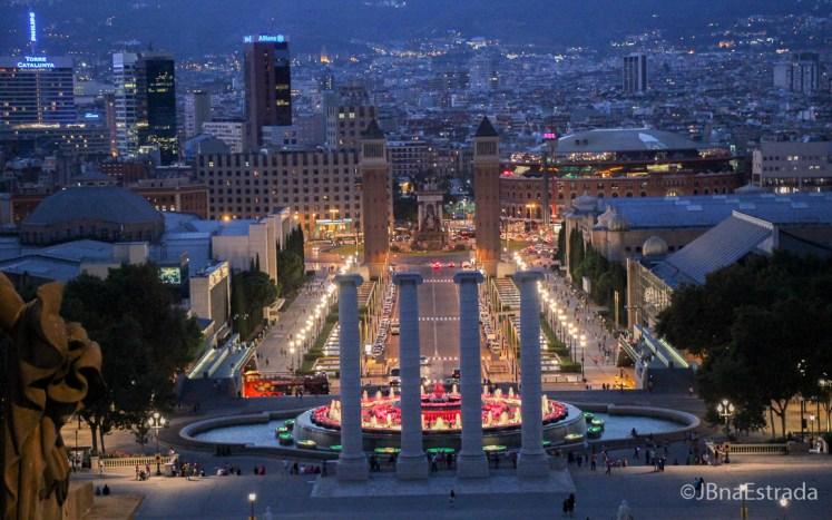 Espanha - Barcelona - Placa dEspanya e Fonte Magica de Montjuic