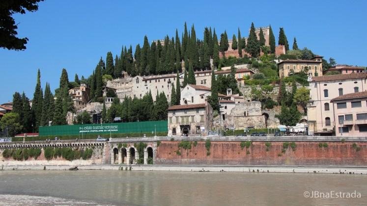 Italia - Verona - Rio Adige - Castel San Pietro
