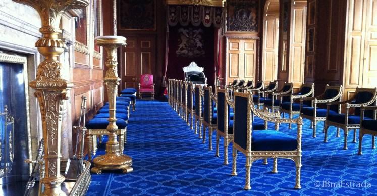Inglaterra - Londres - Castelo de Windsor - Sala Azul