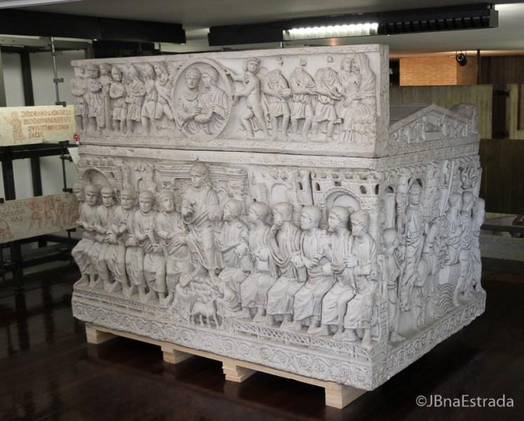 Museus Vaticanos - Museus Pio Cristiano - Sarcofago do Paleocristianismo de Junius Bassus