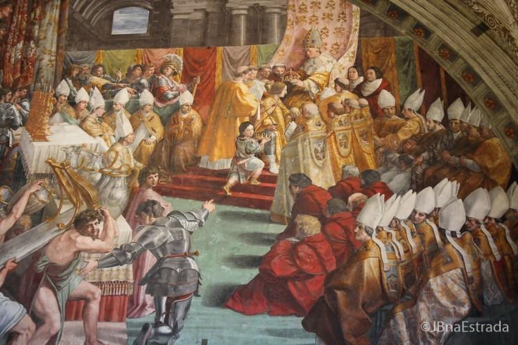 Museus Vaticanos - Salas de Rafael - Sala do Incendio de Borgo - A Coroacao de Carlos Magno