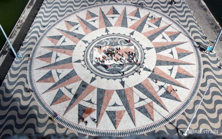 Portugalia - Lisabona - Padrao dos Descobrimentos - Rosa dos Ventos