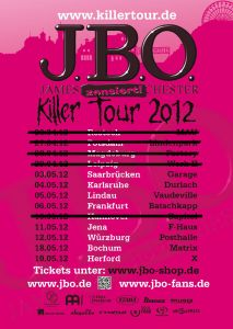 Killer Tour 2012 - Flyer